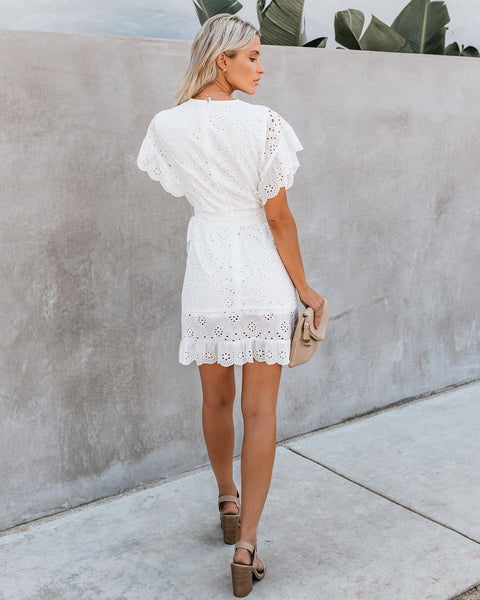 To Love + To Cherish Cotton Eyelet Dress