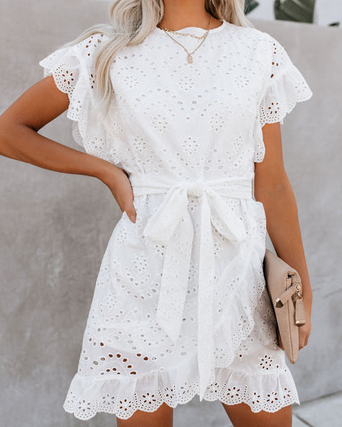 To Love + To Cherish Cotton Eyelet Dress - FINAL SALE