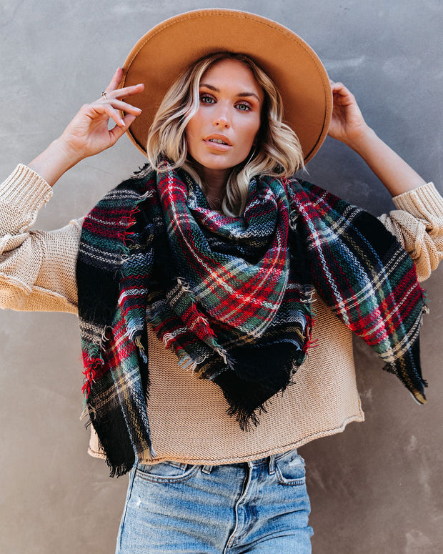 Total Eclipse Plaid Blanket Scarf - FLASH SALE