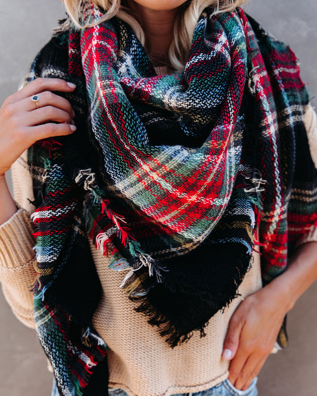 Total Eclipse Plaid Blanket Scarf