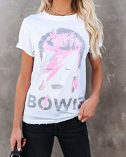 Tour With Bowie Cotton Distressed Tee - FINAL SALE view 8