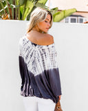 Trade Winds Tie Dye Top - Charcoal