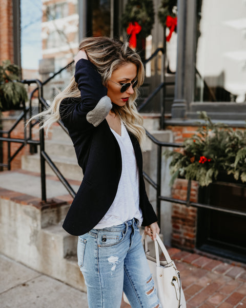 Trend Spotting Elbow Patch Blazer