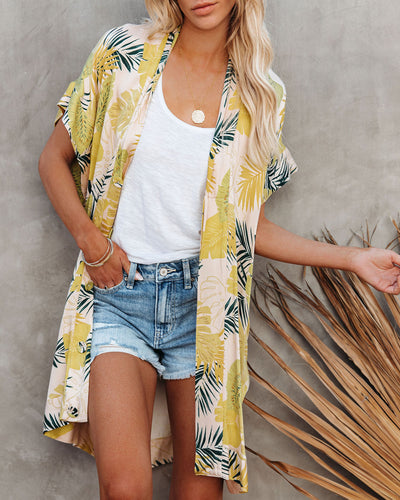 PREORDER - Tropical Vibes Only Versatile Kimono Dress