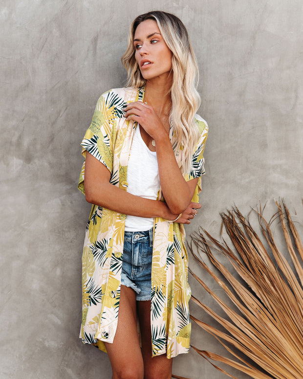 PREORDER - Tropical Vibes Only Versatile Kimono Dress view 6