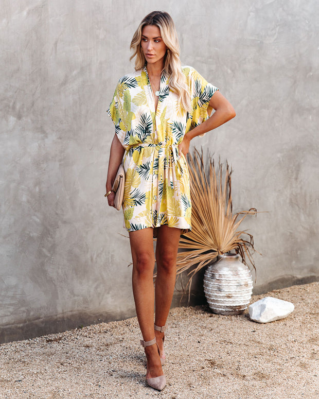 PREORDER - Tropical Vibes Only Versatile Kimono Dress view 1