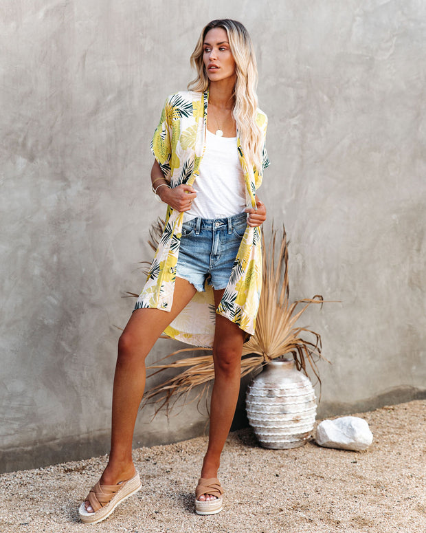 PREORDER - Tropical Vibes Only Versatile Kimono Dress view 8