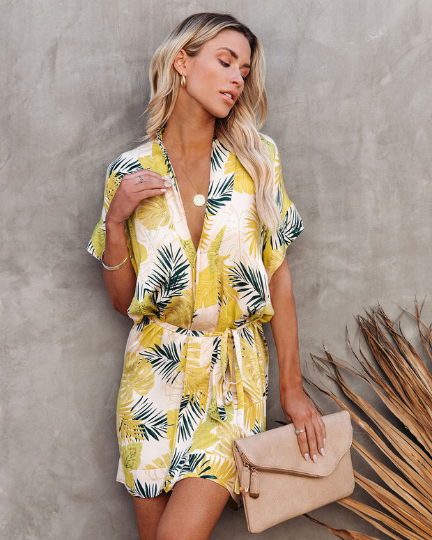 PREORDER - Tropical Vibes Only Versatile Kimono Dress view 10