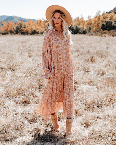 True Story Tiered Boho Maxi Dress