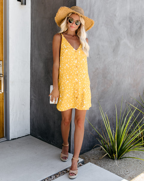 15d7b80d Tucson Pocketed Button Down Tank Dress - Mustard