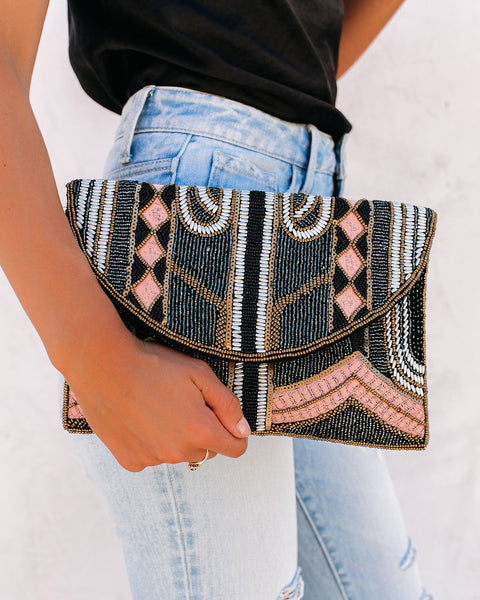 PREORDER - Twilight Handmade Beaded Crossbody Clutch