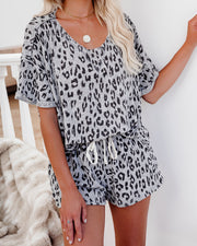Twilight Short Sleeve Knit Leopard Top - FINAL SALE