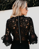 Lady Luck Lace Top - Black
