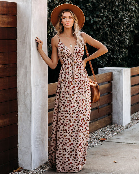 Uncommon Daisy Cutout Maxi Dress - FINAL SALE