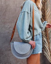 Under The Sun Braided Crossbody Bag - Grey view 1