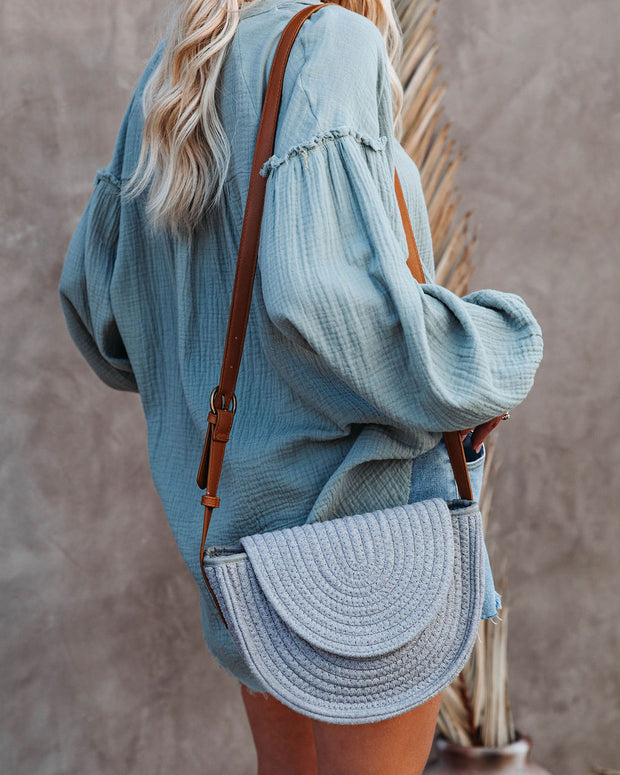 Under The Sun Braided Crossbody Bag - Grey view 6