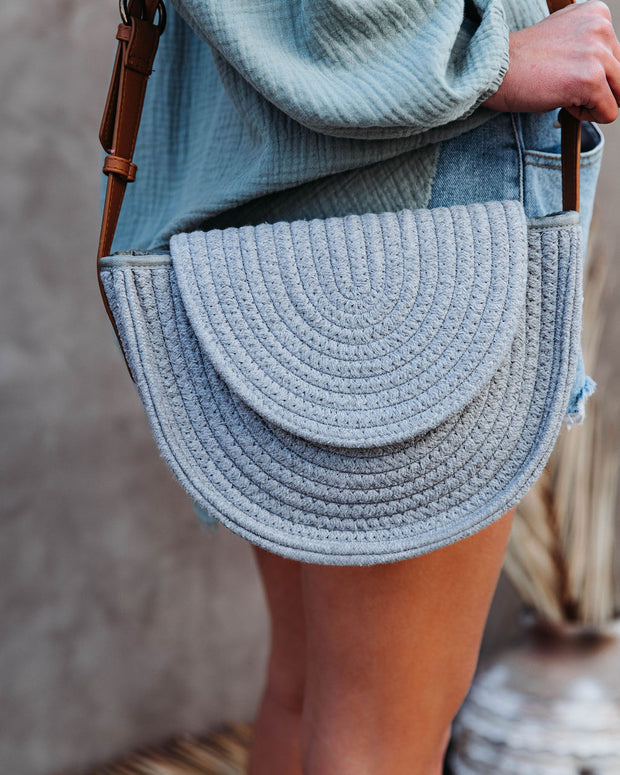 Under The Sun Braided Crossbody Bag - Grey view 4