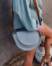 Under The Sun Braided Crossbody Bag - Grey view 2