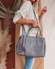 Unlimited Faux Leather Tote Bag - Carbon