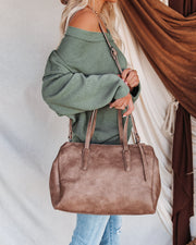 Unlimited Faux Leather Tote Bag - Mushroom