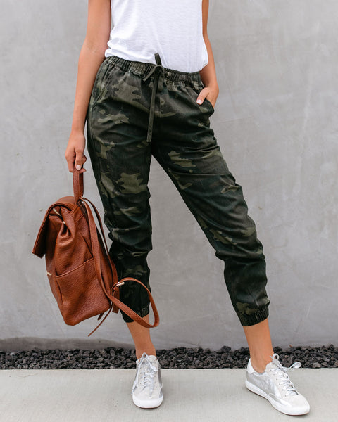 Unseen Cotton Pocketed Camo Joggers