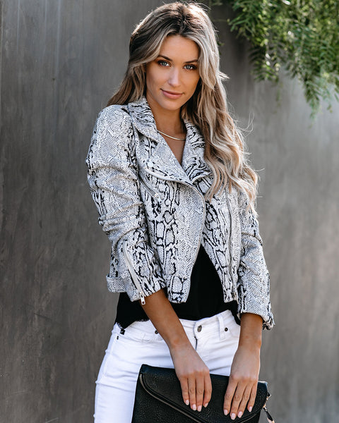 Untamed Pocketed Faux Suede Moto Jacket
