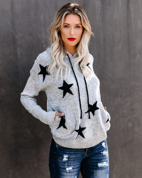 PREORDER - Upon A Star Pocketed Hooded Knit Sweater