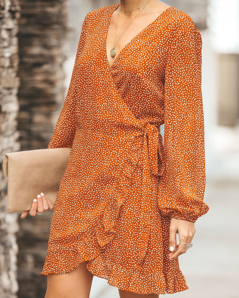 Light Up My Life Polka Dot Wrap Dress