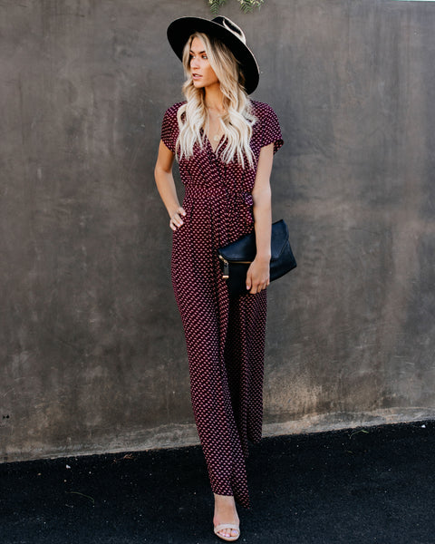 Valley Of The Moon Wrap Maxi Dress - Wine