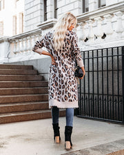 Valley Pocketed Leopard Duster Cardigan