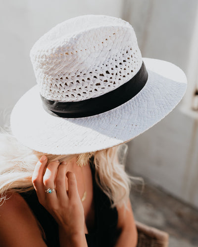Velasco Paper Straw Hat - White