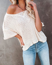 Vera Cotton Ribbed Knit Top - Natural view 9