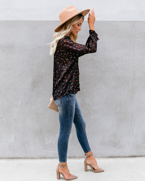 Vibe Tribe Printed Shimmer Blouse - FINAL SALE