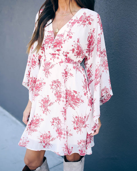 Brazil Floral Tie Back Kimono Dress - FINAL SALE