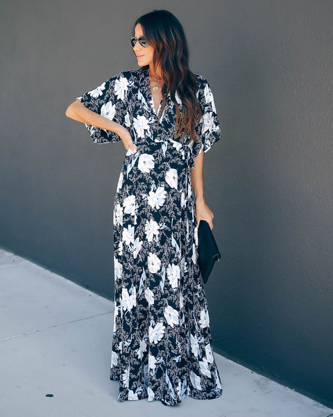 Kadence Wrap Kimono Maxi Dress - FINAL SALE