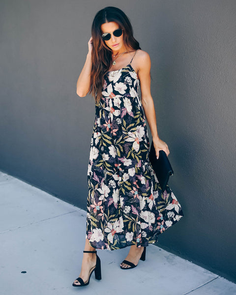 Nothing Holding Me Back Floral Maxi Dress