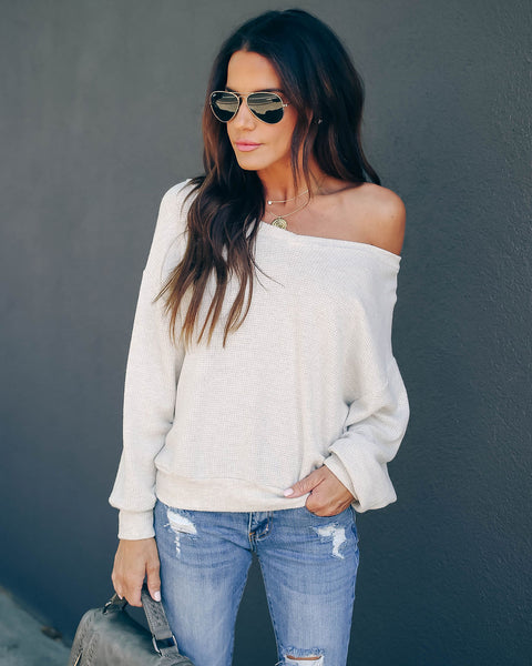 Fawn V-Neck Knit Top