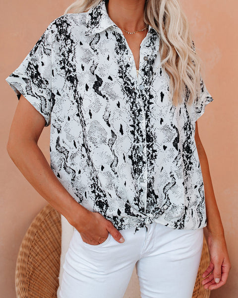 Viperactive Button Down Collared Top - FINAL SALE