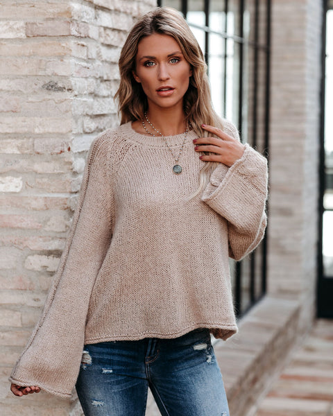 Visions Of You Bell Sleeve Knit Sweater