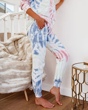 Wake Up Call Cotton Blend Pocketed Tie Dye Joggers - FINAL SALE