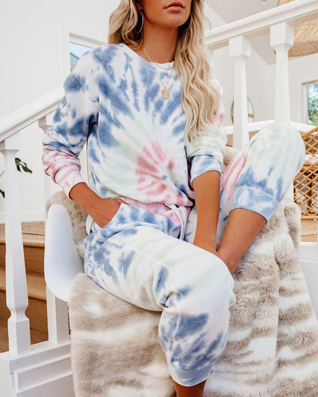 Wake Up Call Cotton Blend Tie Dye Pullover - FINAL SALE
