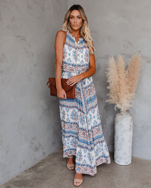 Walks At Sunrise Paisley Maxi Dress