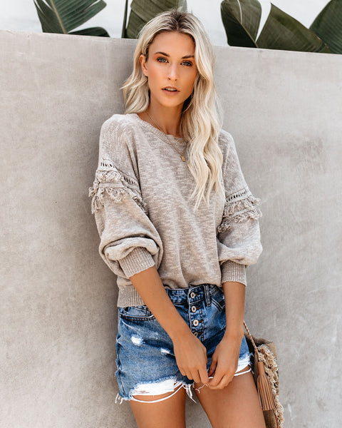 Wanderer Cotton Fringe Sweater - FINAL SALE