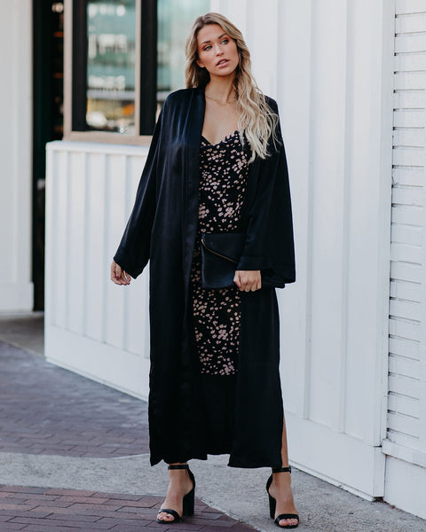Want You To Be Mine Satin Duster Kimono - FINAL SALE
