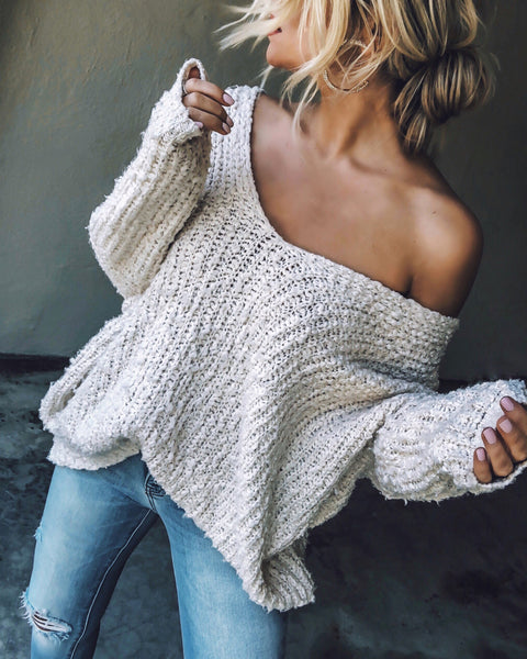 Warms My Soul Knit Sweater - Off White