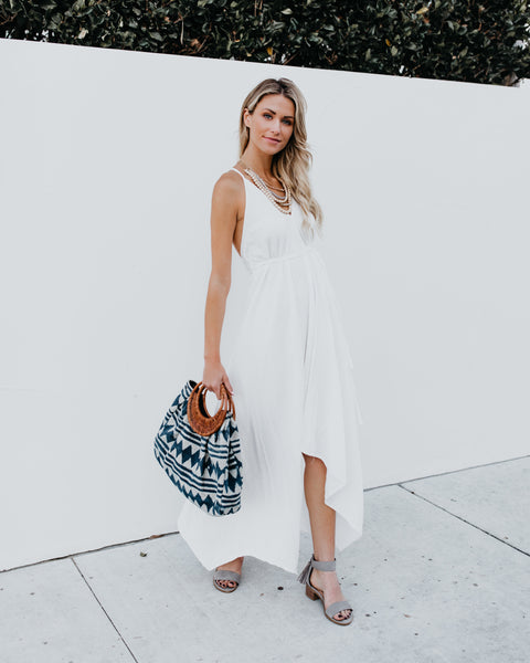 Washed Ashore Versatile Cotton Dress - Off White