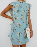 Water's Edge Floral Flutter Dress - FINAL SALE