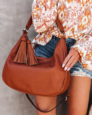 Waverly Faux Leather Hobo Bag - Tan view 1