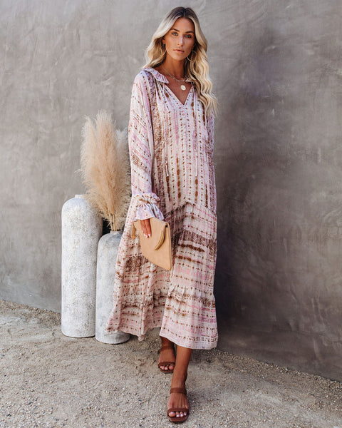 Waverly Floral Tiered Boho Maxi Dress