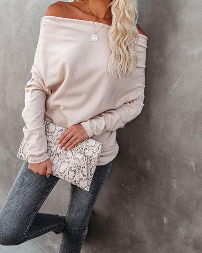 Waverly Relaxed Knit Sweater - Oatmeal